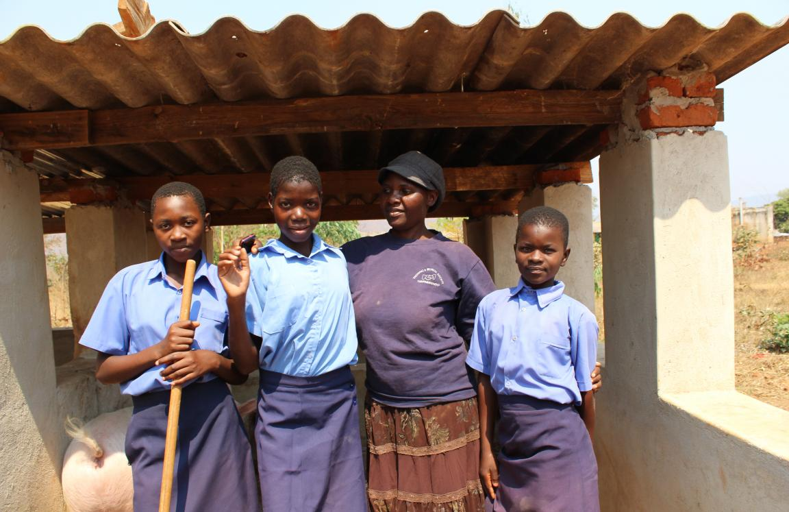 Girls who have been helped to return to school